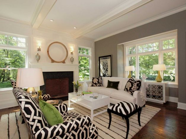 Home staging contemporary living room