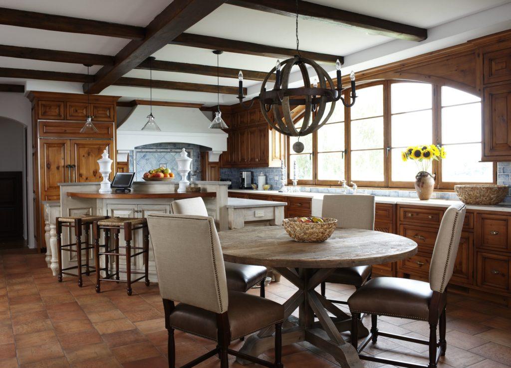 Classic Mediterranean Kitchen in Westport, CT.  Home Staging designed by Kim Cavalier Staging & Design