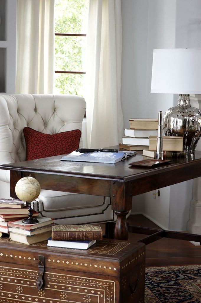 Traditional Home Office in Westport, CT. Home Staging designed by Kim Cavalier Staging & Design
