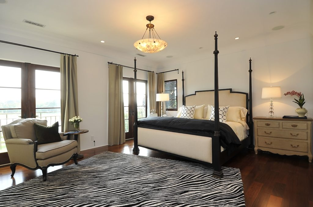 Traditional Glamour Bedroom in Westport, CT.  Home Staging designed by Kim Cavalier Staging & Design