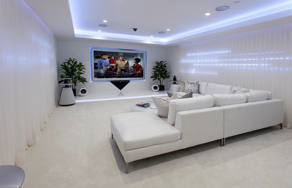 """Home Staging Modern Home Theater"""