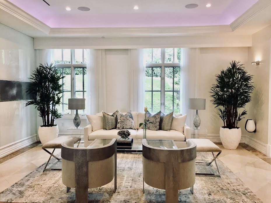 Home Staging Modern Living Room Newport Beach CA